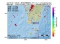 地震震源マップ:2017年01月21日 12時00分 鹿児島県薩摩地方 M3.0