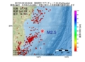 地震震源マップ:2017年01月22日 00時09分 福島県沖 M2.5