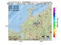 地震震源マップ:2017年01月22日 07時33分 岐阜県飛騨地方 M3.4