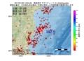 地震震源マップ:2017年01月22日 13時04分 福島県沖 M2.5