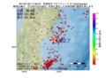 地震震源マップ:2017年01月22日 17時36分 宮城県沖 M2.7