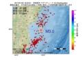地震震源マップ:2017年01月22日 18時23分 宮城県沖 M3.0