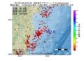 地震震源マップ:2017年01月22日 20時52分 福島県沖 M2.8