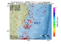 地震震源マップ:2017年01月22日 21時01分 宮城県沖 M3.1