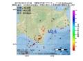 地震震源マップ:2017年01月22日 21時57分 十勝地方中部 M2.5
