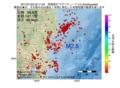 地震震源マップ:2017年01月22日 22時11分 茨城県沖 M2.5