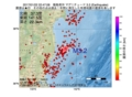 地震震源マップ:2017年01月22日 22時47分 福島県沖 M3.2