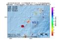 地震震源マップ:2017年01月22日 22時47分 トカラ列島近海 M3.2