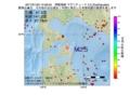 地震震源マップ:2017年01月23日 14時56分 津軽海峡 M2.5