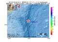 地震震源マップ:2017年01月23日 23時16分 関東東方沖 M3.1