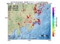 地震震源マップ:2017年01月24日 03時46分 東京湾 M2.5