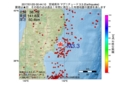 地震震源マップ:2017年01月25日 00時44分 宮城県沖 M3.3