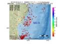 地震震源マップ:2017年01月25日 04時41分 宮城県沖 M2.5