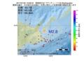 地震震源マップ:2017年01月25日 13時08分 国後島付近 M2.8