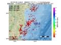 地震震源マップ:2017年01月25日 14時56分 福島県沖 M2.6