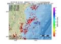 地震震源マップ:2017年01月25日 16時12分 福島県沖 M2.9