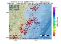 地震震源マップ:2017年01月25日 16時51分 福島県沖 M2.5
