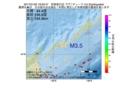 地震震源マップ:2017年01月25日 18時33分 択捉島付近 M3.5