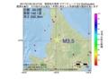 地震震源マップ:2017年01月25日 20時47分 留萌地方南部 M3.5