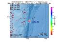 地震震源マップ:2017年01月25日 23時07分 三陸沖 M2.6