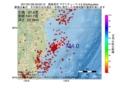 地震震源マップ:2017年01月26日 00時00分 福島県沖 M4.0