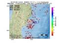地震震源マップ:2017年01月26日 11時52分 宮城県沖 M3.7