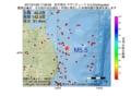 地震震源マップ:2017年01月26日 17時06分 岩手県沖 M5.5
