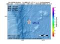 地震震源マップ:2017年02月06日 20時58分 八丈島東方沖 M5.3