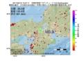 地震震源マップ:2017年02月10日 10時27分 京都府南部 M3.9