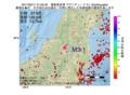 地震震源マップ:2017年02月11日 21時03分 福島県会津 M3.1