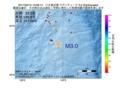地震震源マップ:2017年02月14日 13時08分 八丈島近海 M3.0