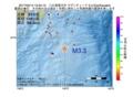 地震震源マップ:2017年02月14日 15時54分 八丈島東方沖 M3.3