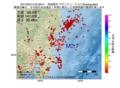 地震震源マップ:2017年02月14日 20時36分 茨城県沖 M2.7