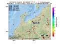 地震震源マップ:2017年02月18日 10時06分 富山県東部 M3.5