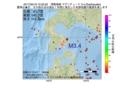 地震震源マップ:2017年02月19日 10時22分 津軽海峡 M3.4
