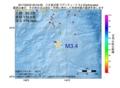 地震震源マップ:2017年02月20日 00時43分 八丈島近海 M3.4