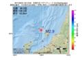地震震源マップ:2017年02月21日 03時13分 佐渡付近 M2.9