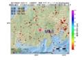 地震震源マップ:2017年02月21日 19時41分 山梨県中・西部 M3.3