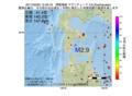 地震震源マップ:2017年02月25日 12時49分 津軽海峡 M2.9