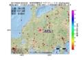 地震震源マップ:2017年03月05日 08時53分 岐阜県飛騨地方 M3.1
