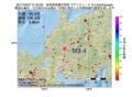 地震震源マップ:2017年03月07日 21時23分 岐阜県美濃中西部 M3.4