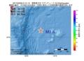 地震震源マップ:2017年03月08日 21時41分 関東東方沖 M3.6