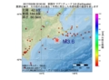 地震震源マップ:2017年03月08日 22時50分 釧路沖 M3.6