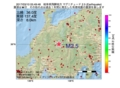 地震震源マップ:2017年03月10日 05時49分 岐阜県飛騨地方 M2.5