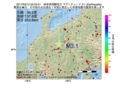 地震震源マップ:2017年03月12日 02時33分 岐阜県飛騨地方 M3.1