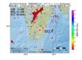 地震震源マップ:2017年03月12日 05時03分 宮崎県南部山沿い M3.1