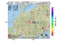 地震震源マップ:2017年03月17日 15時03分 岐阜県飛騨地方 M3.3