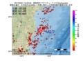 地震震源マップ:2017年03月21日 18時22分 福島県沖 M2.7