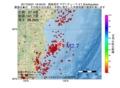 地震震源マップ:2017年03月21日 18時46分 福島県沖 M2.7