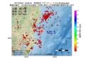 地震震源マップ:2017年03月21日 19時06分 茨城県沖 M2.5